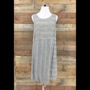 Pure Jill  Women's Linen Sleeveless Dress Grey